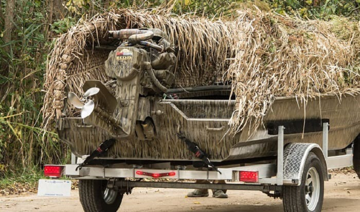 how to build a duck blind for a boat