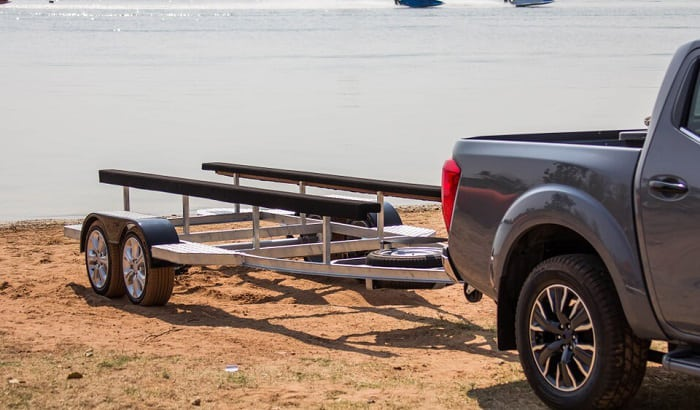 how to set up boat trailer bunks