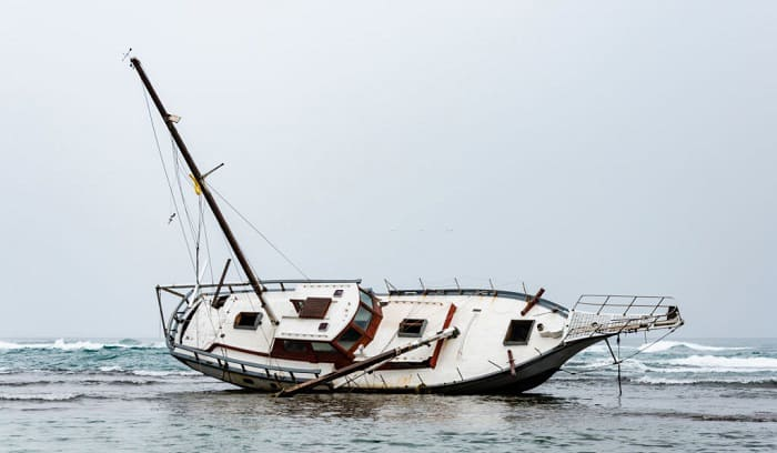 what should you do first if your boat runs aground
