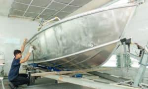 how to repair aluminum boat